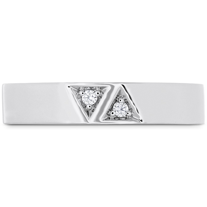 0.03 ctw. Triplicity Triangle Double Diam Band 4mm in 18K Rose Gold