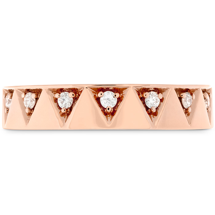 0.1 ctw. Triplicity Triangle Multi Diam Band 4mm in 18K Rose Gold